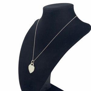 "Tiffany & Co. 1"" Notes Heart Pendant Necklace 16"""